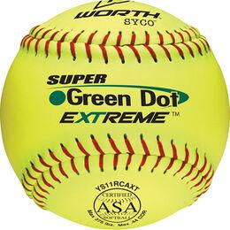 ASA 11 in Green Dot Softballs (YS11RCAXT)
