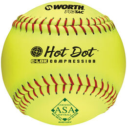 ASA 11 in Green Dot Softballs (Dozen)
