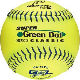 GSL 12 in Green Dot Softballs (UC11SYG)